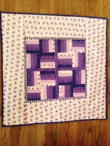 Easy Serger Pieced Quilt